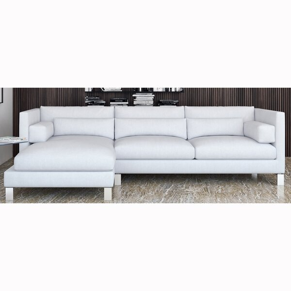 Zonia Left Hand Facing Leather Sectional By Orren Ellis