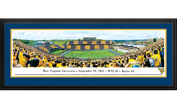 NCAA West Virginia University - Stripe by Christopher Gjevre Framed Photographic Print by Blakeway Worldwide Panoramas, Inc