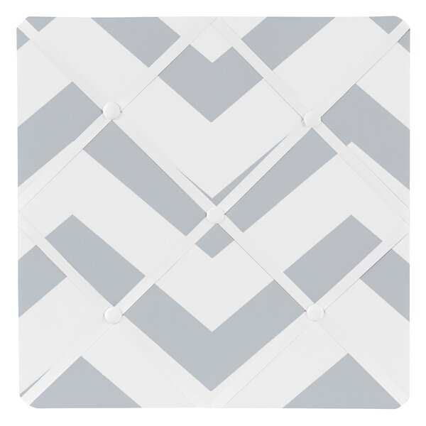 Chevron Wall Mounted Photo Memo Board by Sweet Jojo Designs