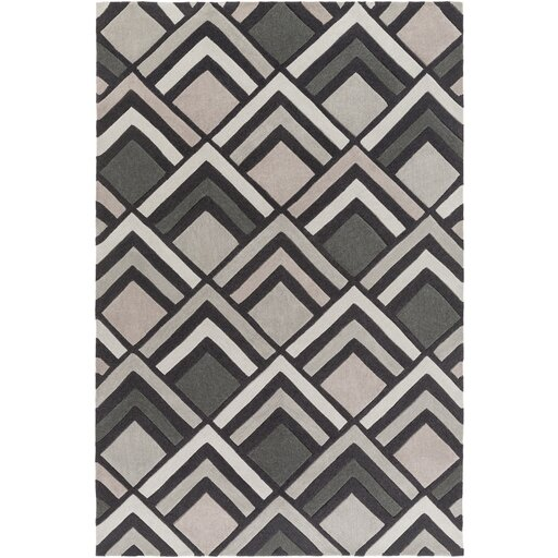 Harvey Hand-Tufted Charcoal/ Gray Area Rug by Williston Forge
