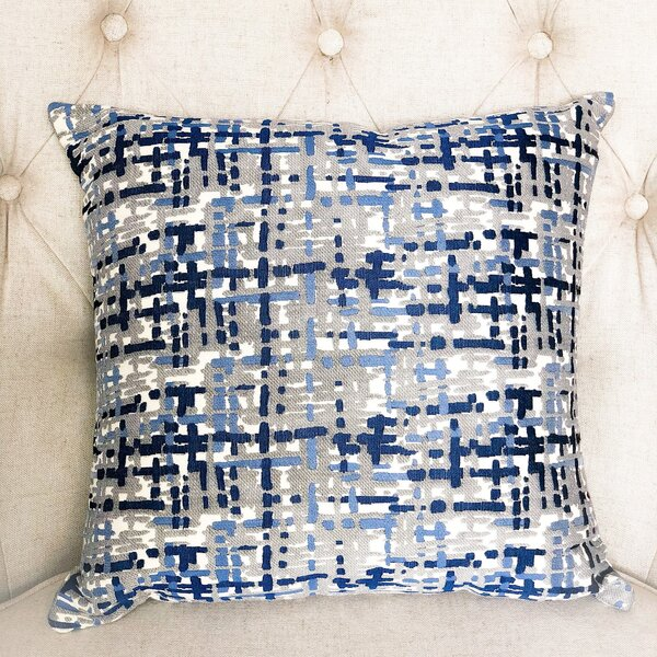 Abstract Plaid Double Sided Throw Pillow by Plutus Brands