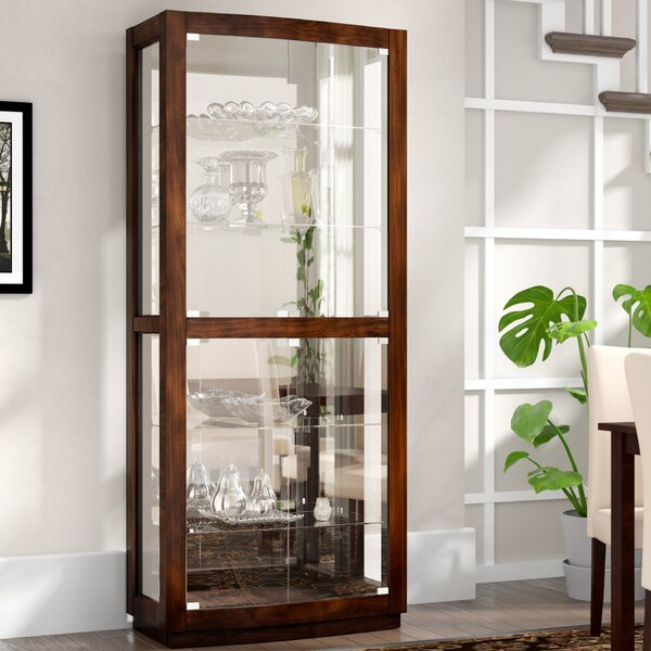 Cheshire Lighted Curio Cabinet by Red Barrel Studio