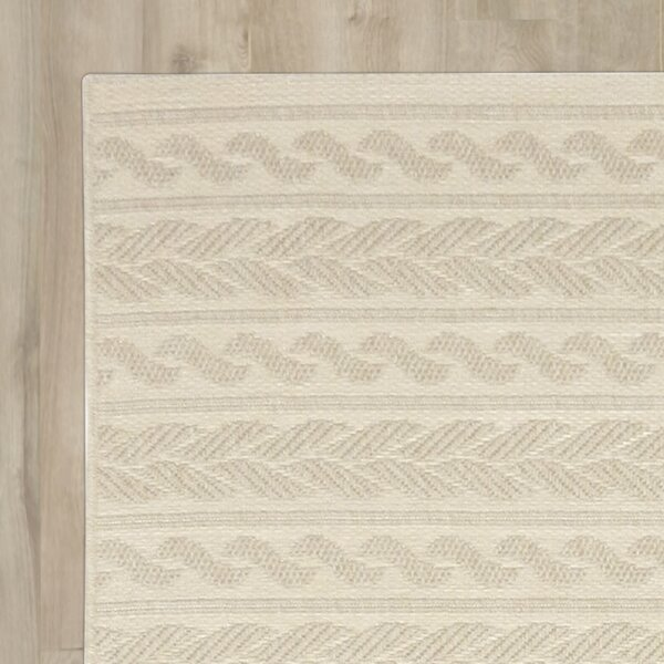 Acton Ivory Geometric Indoor/Outdoor Area Rug by Three Posts