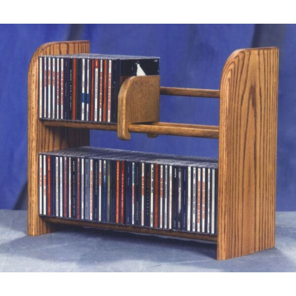 200 Series 84 CD Multimedia Tabletop Storage Rack by Wood Shed