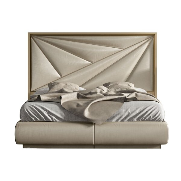 Helotes Upholstered Platform Bed by Orren Ellis