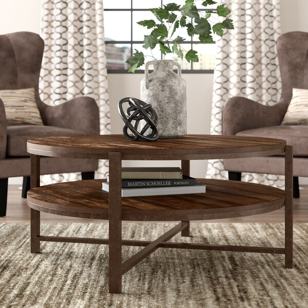 Rowan Cross Legs Coffee Table With Storage By Trent Austin Design