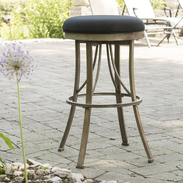 Daugherty 26 Swivel Indoor/Outdoor Patio Bar Stool by Darby Home Co