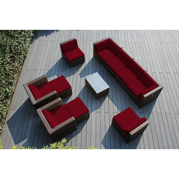 Baril 11 Piece Sunbrella Sofa Seating Group with Cushions by Wade Logan
