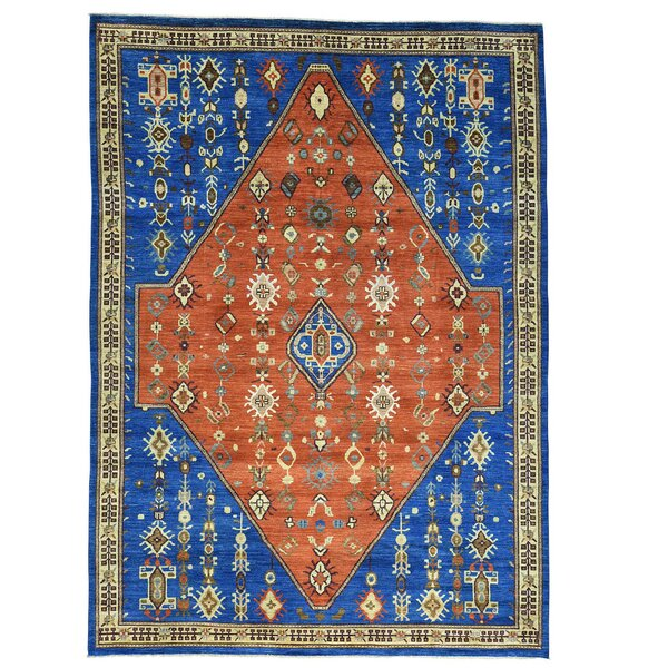 One-of-a-Kind Granberry Hand-Knotted Rust Red Area Rug by Bloomsbury Market