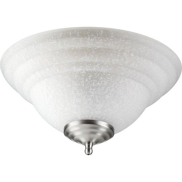 Tri Bump 2-Light Bowl Ceiling Fan Light Kit by Quorum