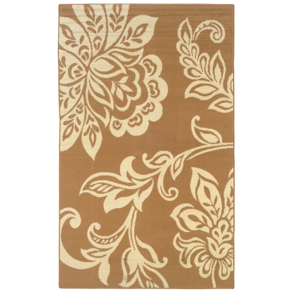 Zeigler Brown/Ivory Area Rug by Charlton Home