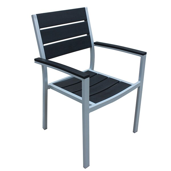 Kairo Stacking Patio Dining Chair with Cushion by Orren Ellis
