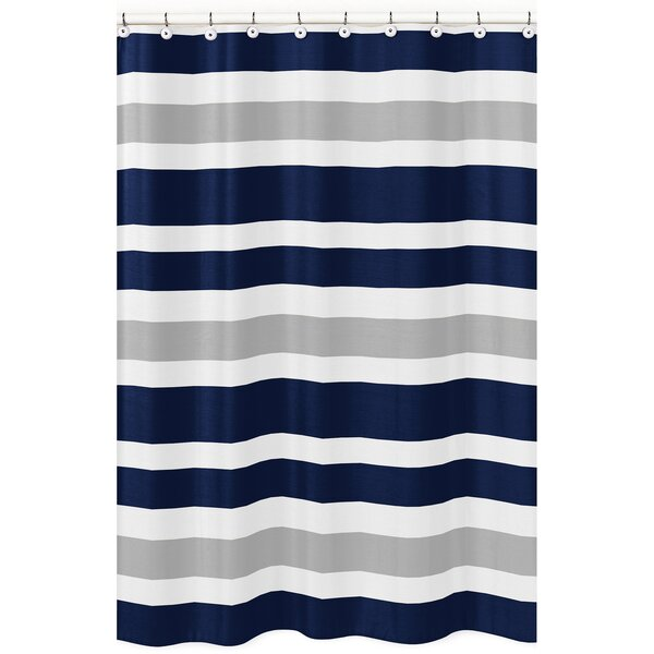 Stripe Brushed Microfiber Shower Curtain by Sweet