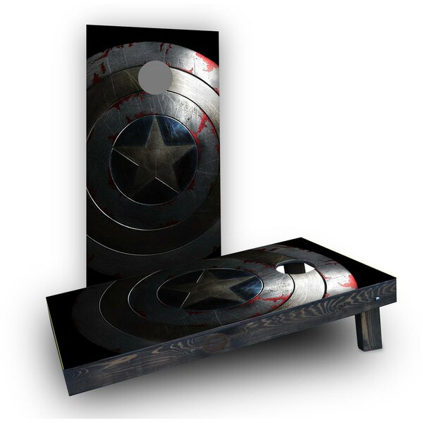 Captain America Shield  Cornhole Boards (Set of 2) by Custom Cornhole Boards