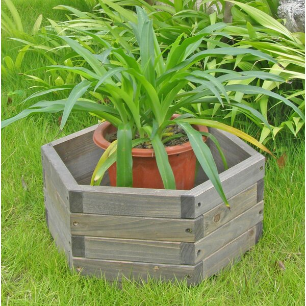 Fir Wood Pot Planter by Elegant Home Fashions
