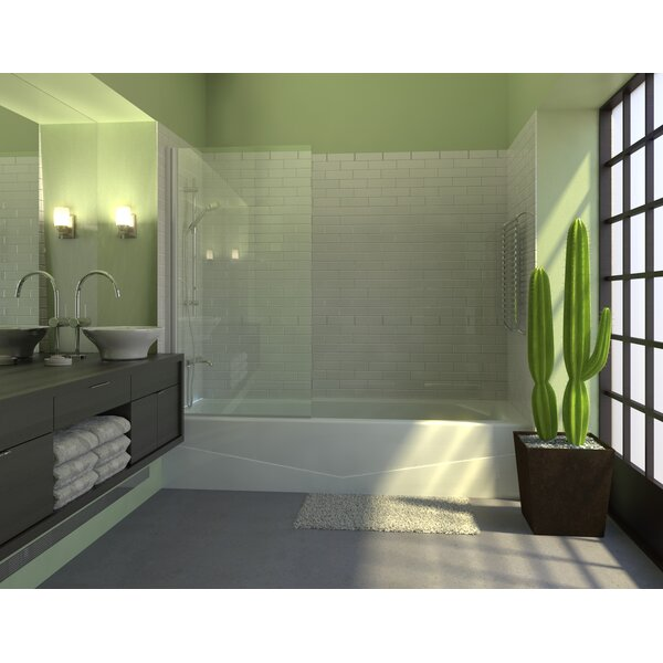 33.5 x 60 Pivot Semi-Frameless Tub Door by Ark Showers