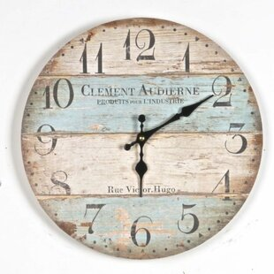 Look for Albrightsville Clement Audierne 13.5 Wall Clock by Highland Dunes