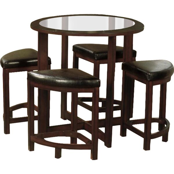 Landaverde 5 Piece Dining Set by Millwood Pines