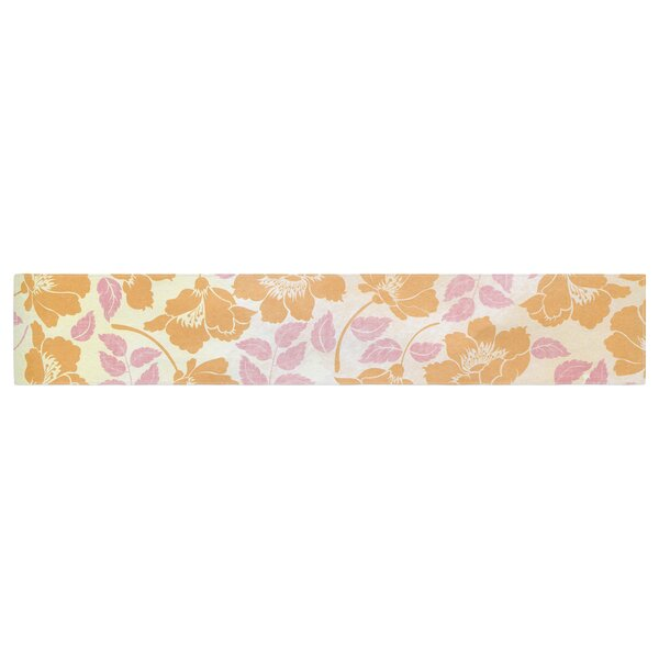 Heidi Jennings Sun Kissed Petals Table Runner by East Urban Home