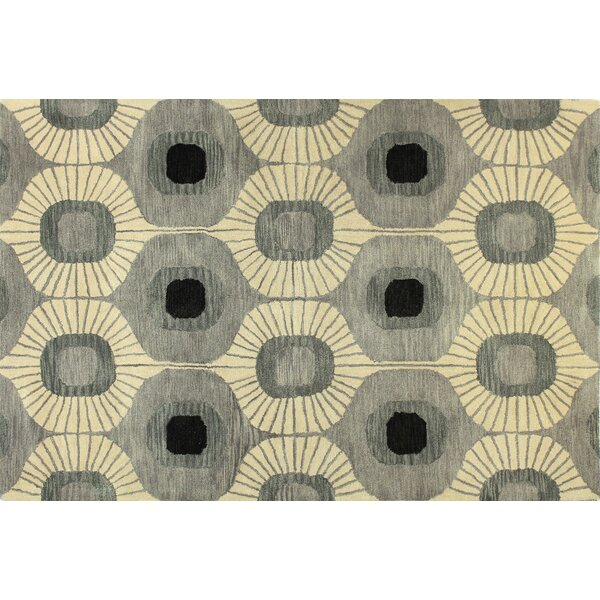 Ashland Wool Grey Area Rug by Bashian Rugs