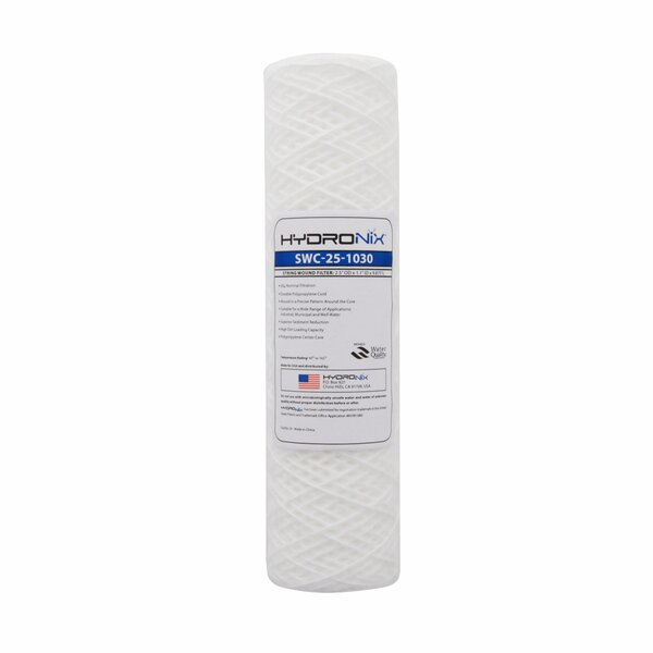 String Wound 30 Micron Under Sink Replacement Filter by Hydronix