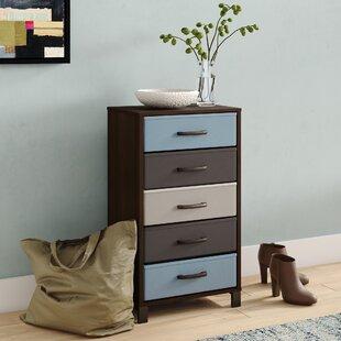 Read Reviews Langevine Storage Stand 5 Drawer Accent Chest ByEbern Designs