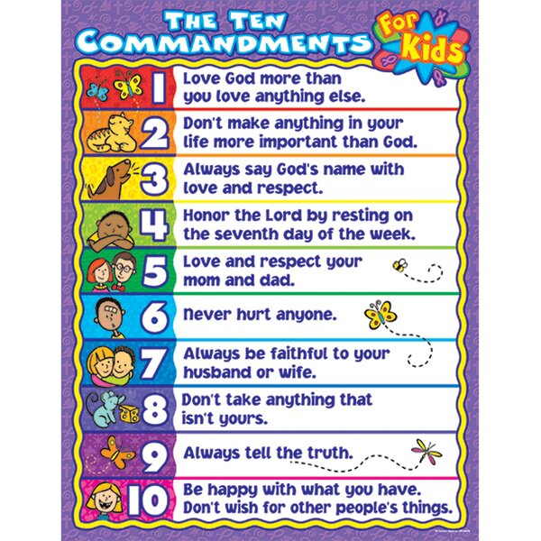 The 10 Commandments for Kids Chart by Frank Schaffer Publications/Carson Dellosa Publications