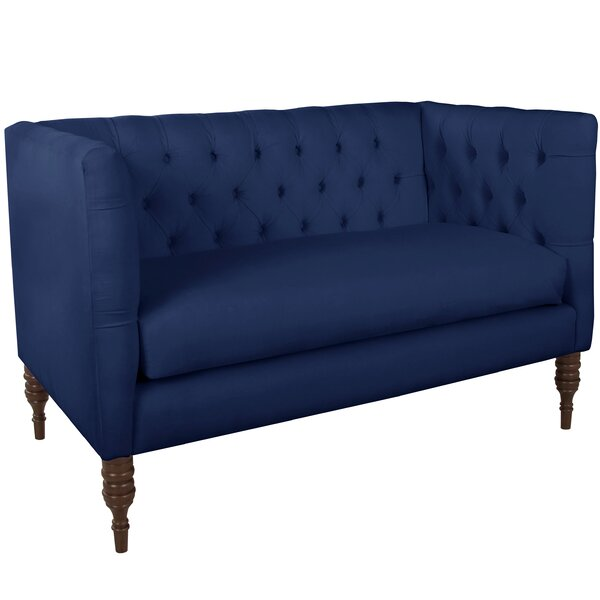 Suprident Tufted Chesterfield Settee By World Menagerie