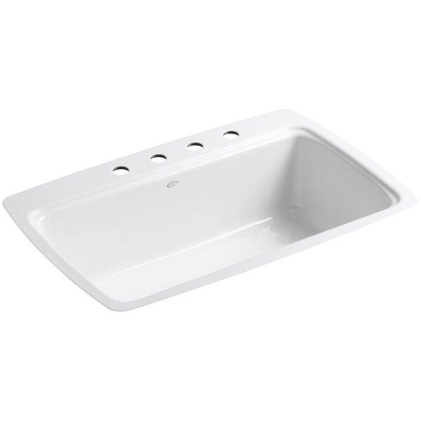 Cape Dory 33 x 22 x 9.6 Tile-in Single-Bowl Kitchen Sink by Kohler