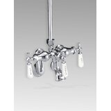 Old Fashioned Double Handle Wall Mounted Clawfoot Tub Faucet
