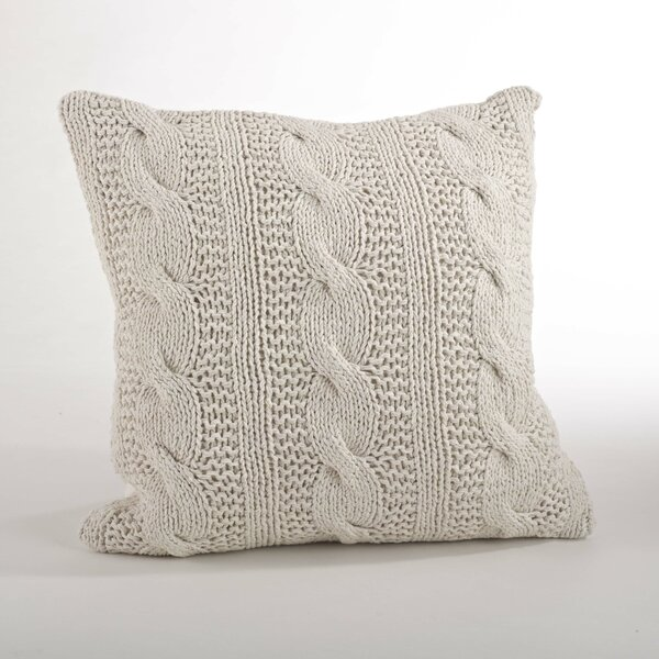 Ritter Cable Knit Cotton Feather Throw Pillow Reviews Joss Main