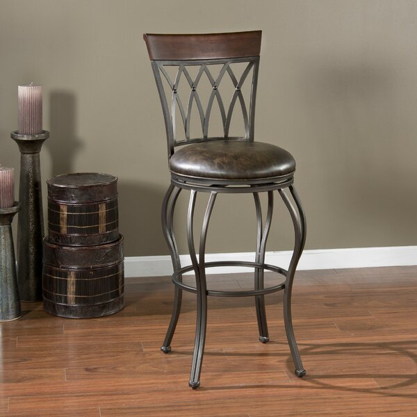 Fillmore 30 Swivel Bar Stool by Darby Home Co