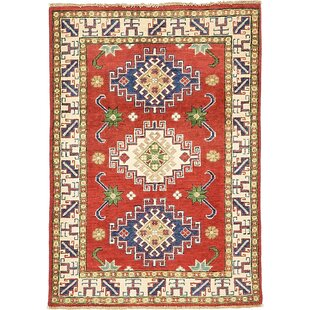 Shop For One-of-a-Kind Alayna Hand-Knotted 2'9 x 4' Wool Beige/Blue/Red Area Rug By Isabelline