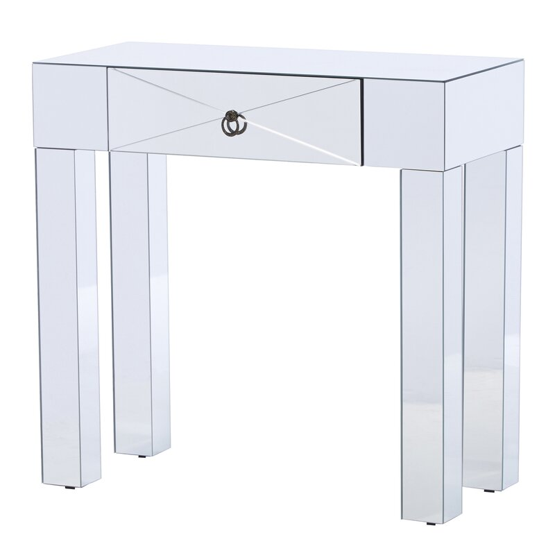 mirrored console table. antonia mirrored console table
