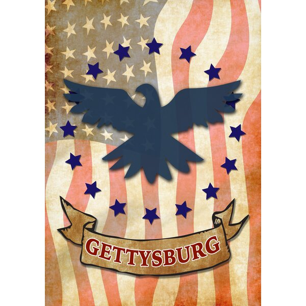 Gettysburg Eagle 2-Sided Garden flag by Toland Home Garden