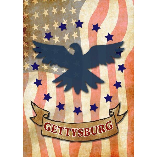 Gettysburg Eagle 2-Sided Garden flag by Toland Home Garden