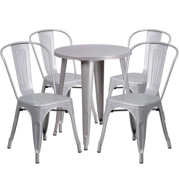 Aragon Metal Indoor/Outdoor 5 Piece Dining Set by Latitude Run