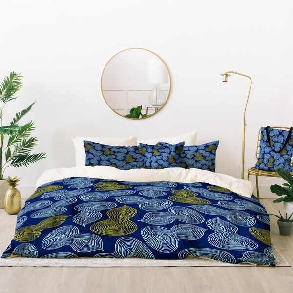 Heather Dutton Leaflet Marine Duvet Cover Set