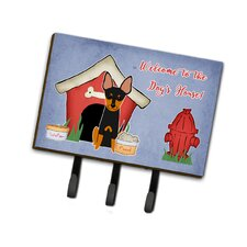 Dog House English Toy Terrier Leash or Key Holder by Caroline's Treasures