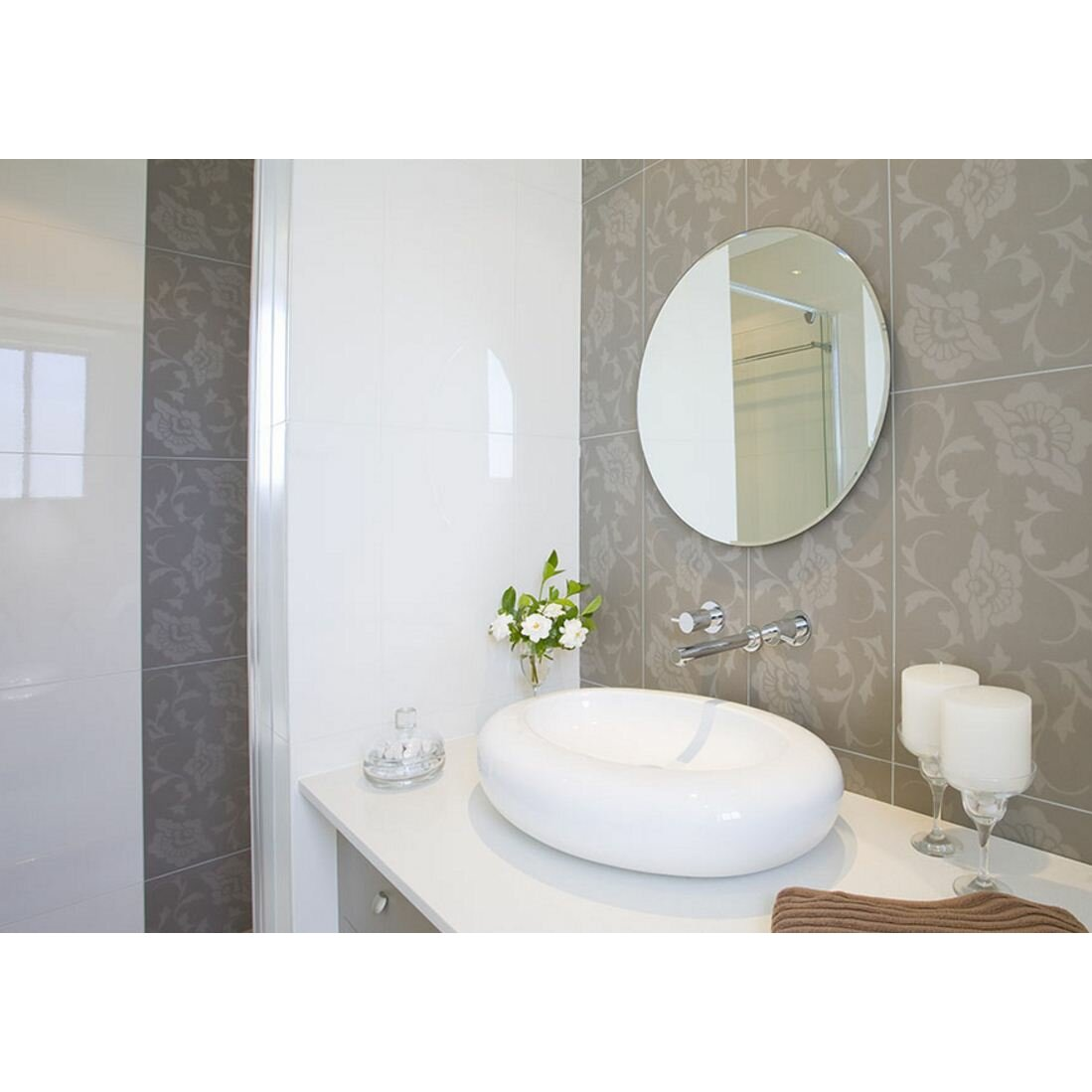 Fab Glass and Mirror Beveled Polished Frameless Wall ...