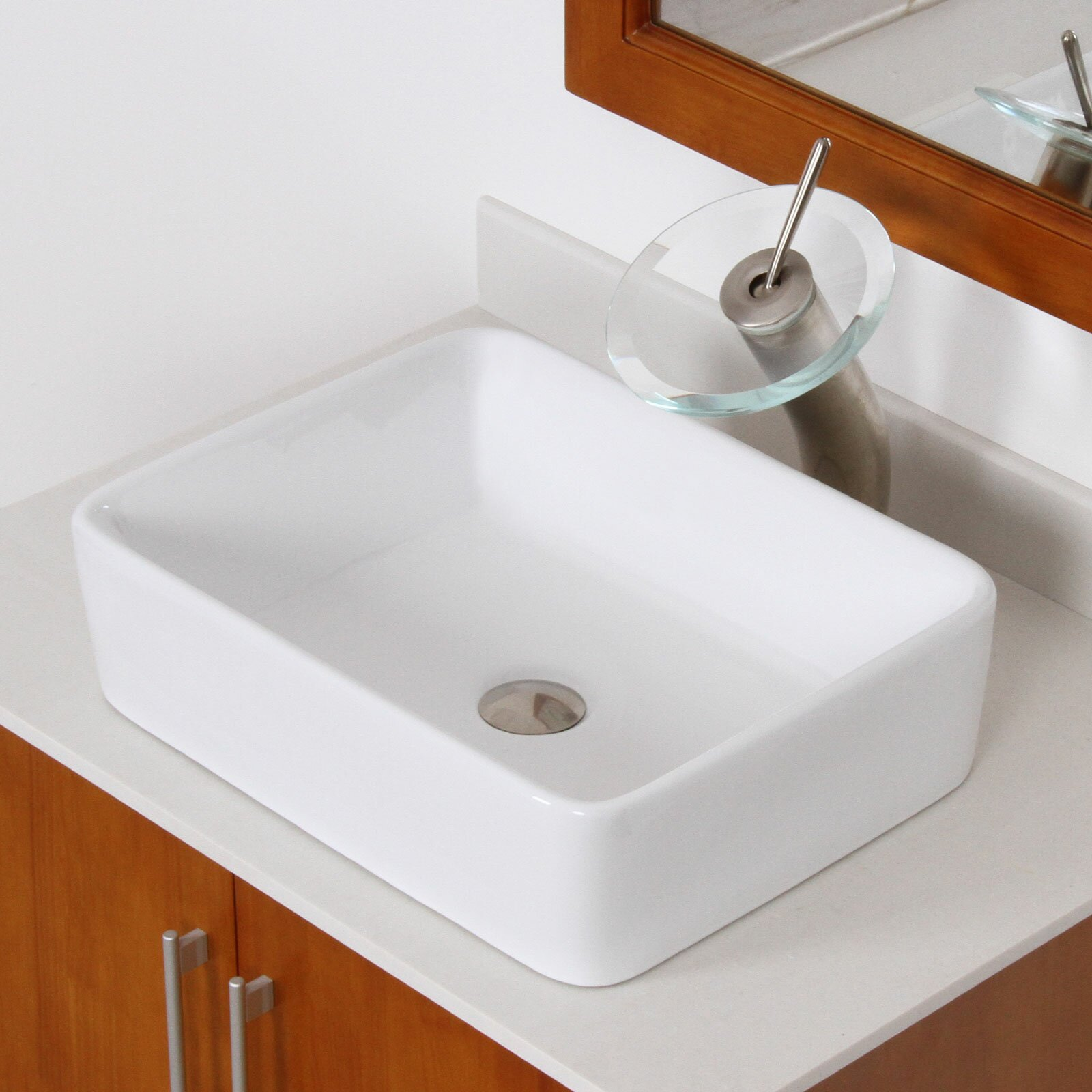 elite ceramic rectangular vessel bathroom sink reviews