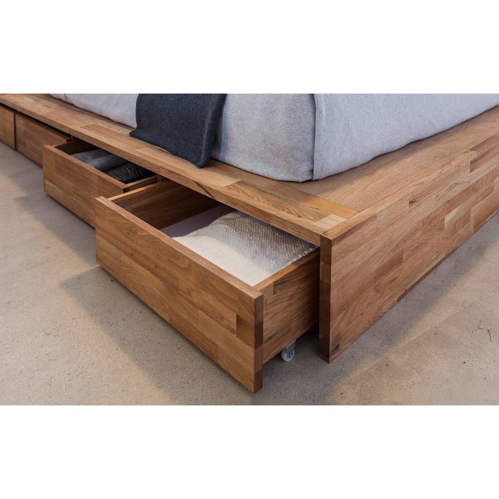 Lax series storage platform bed reviews allmodern - Seagrass platform bed ...