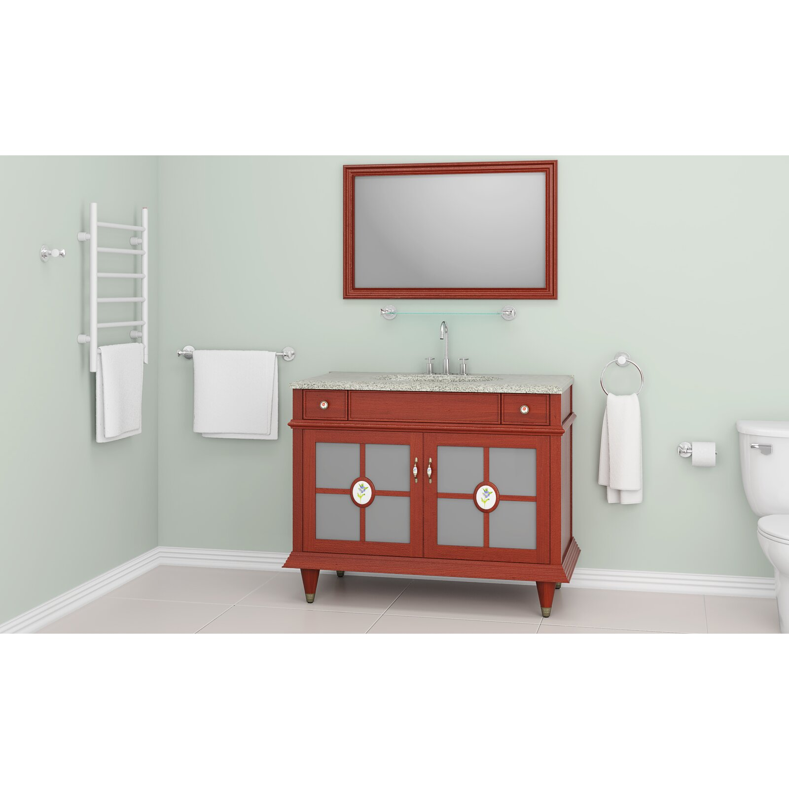 Ancona 5 piece bathroom hardware set reviews for Bathroom 5 piece set