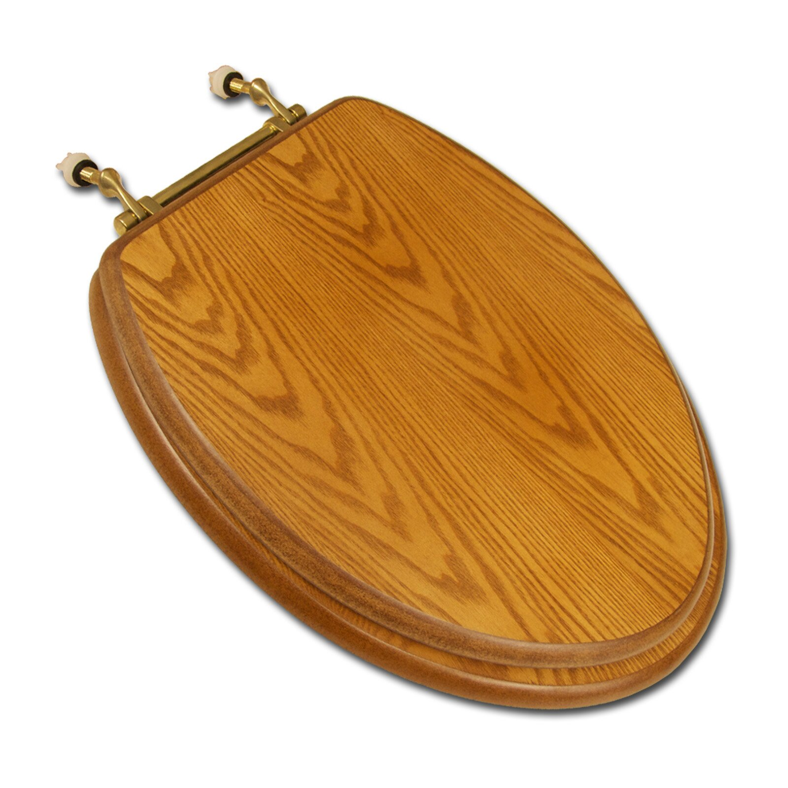 Comfort Seats Decorative Wood Elongated Toilet Seat  Reviews - Oak toilet seat soft close