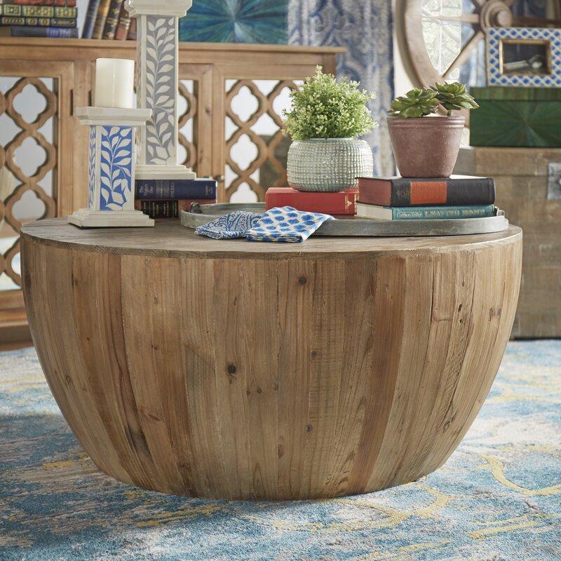 bohemian solid coffee tables you'll love | wayfair
