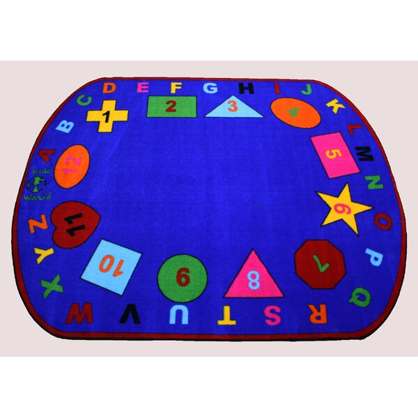 Shapes Black/Blue Area Rug by Kids World Carpets