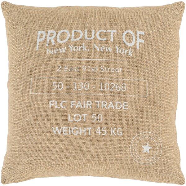 Circa Wheat Throw Pillow by Surya