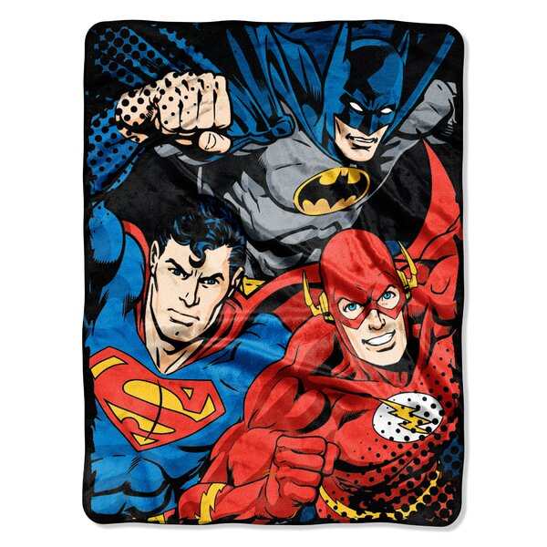 Justice League - League Trio Polyester Throw by Northwest Co.