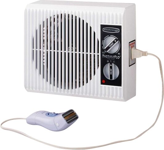 Off the Wall Bed/Bathroom Heater by SeaBreeze Electric