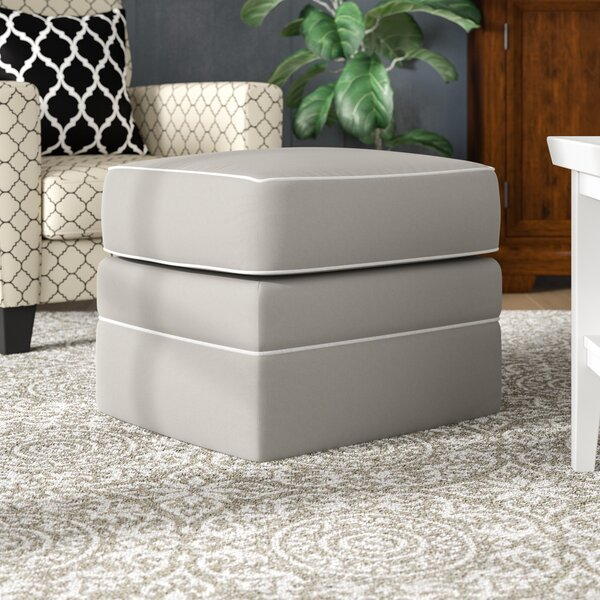 "Foote Ottoman with Contrasting Welt by Wayfair Custom Upholsteryâ""¢"